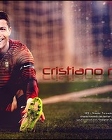 Gold painting of Cristiano Ronald