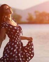 Girl In Dress Morning