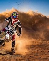 Motorcycle Race Sand