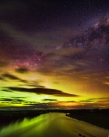 The Southern Lights in New Zealand