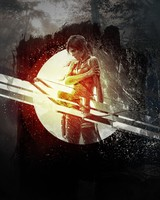 Lara Croft in the dark - Tomb Raider