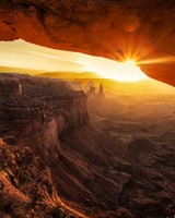 Canyonlands Cave Sunset