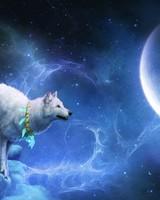 Magic White Wolf