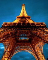 Paris At Night Eiffel Tower View From Below