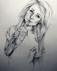 girly sketch wallpaper 1