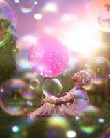 Kid Girl Bubbles World Style