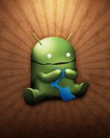 Funny Android Robot wallpaper 1