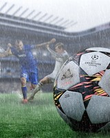 Football in the Rain
