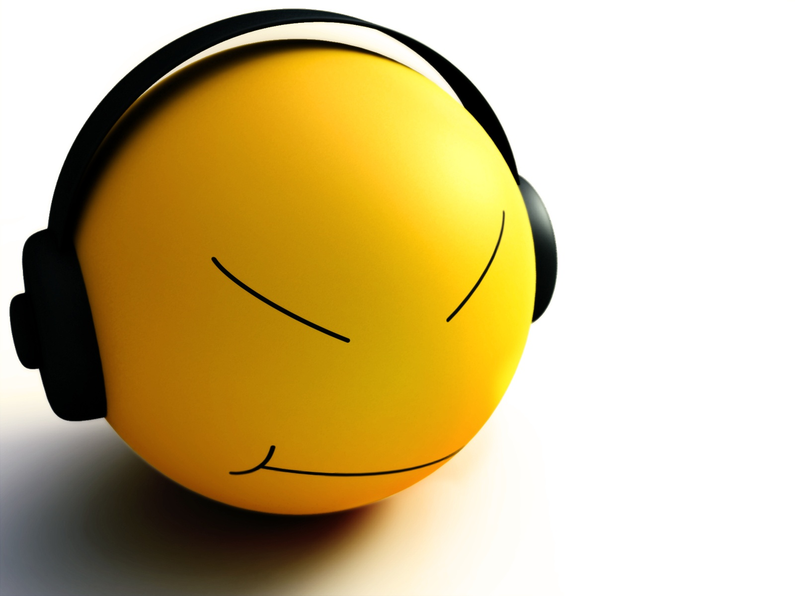 Free Smiley Listen Music phone wallpaper by chappie27