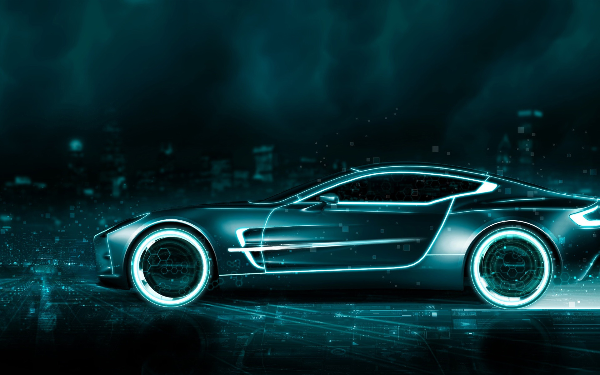 Free Tron Aston Martin phone wallpaper by kingdomhearts2498