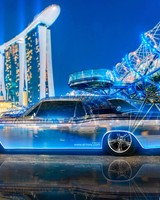 Lincoln Continental Crystal City Night Neon