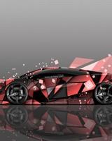 Lamborghini Gallardo Side Abstract Aerography