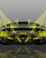 Lamborghini Huracan Back Abstract Aerography