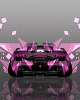 Lamborghini Gallardo Back Abstract Car