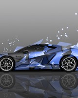 Lamborghini Asterion Side Abstract Aerography