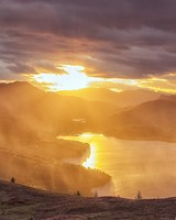 Sunset on the Trossachs, Scotland