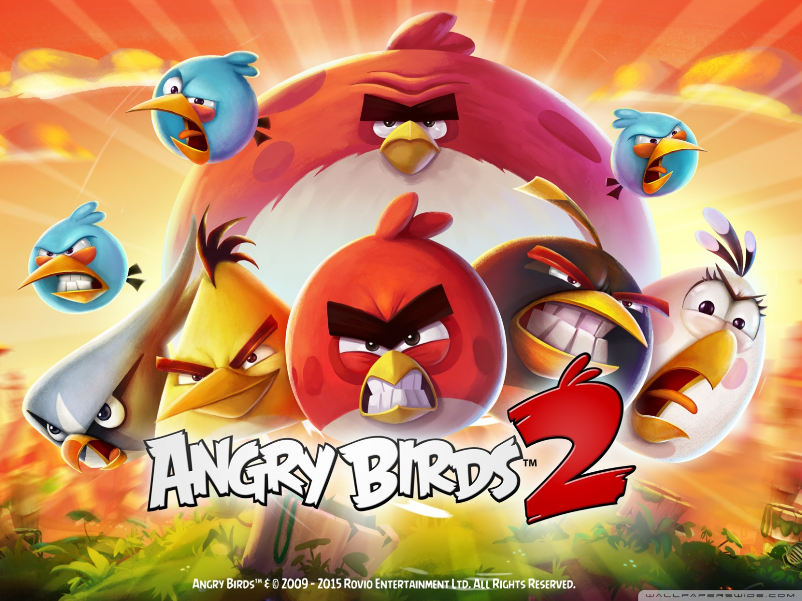 Free Angry Birds 2 The Flock  phone wallpaper by stencen