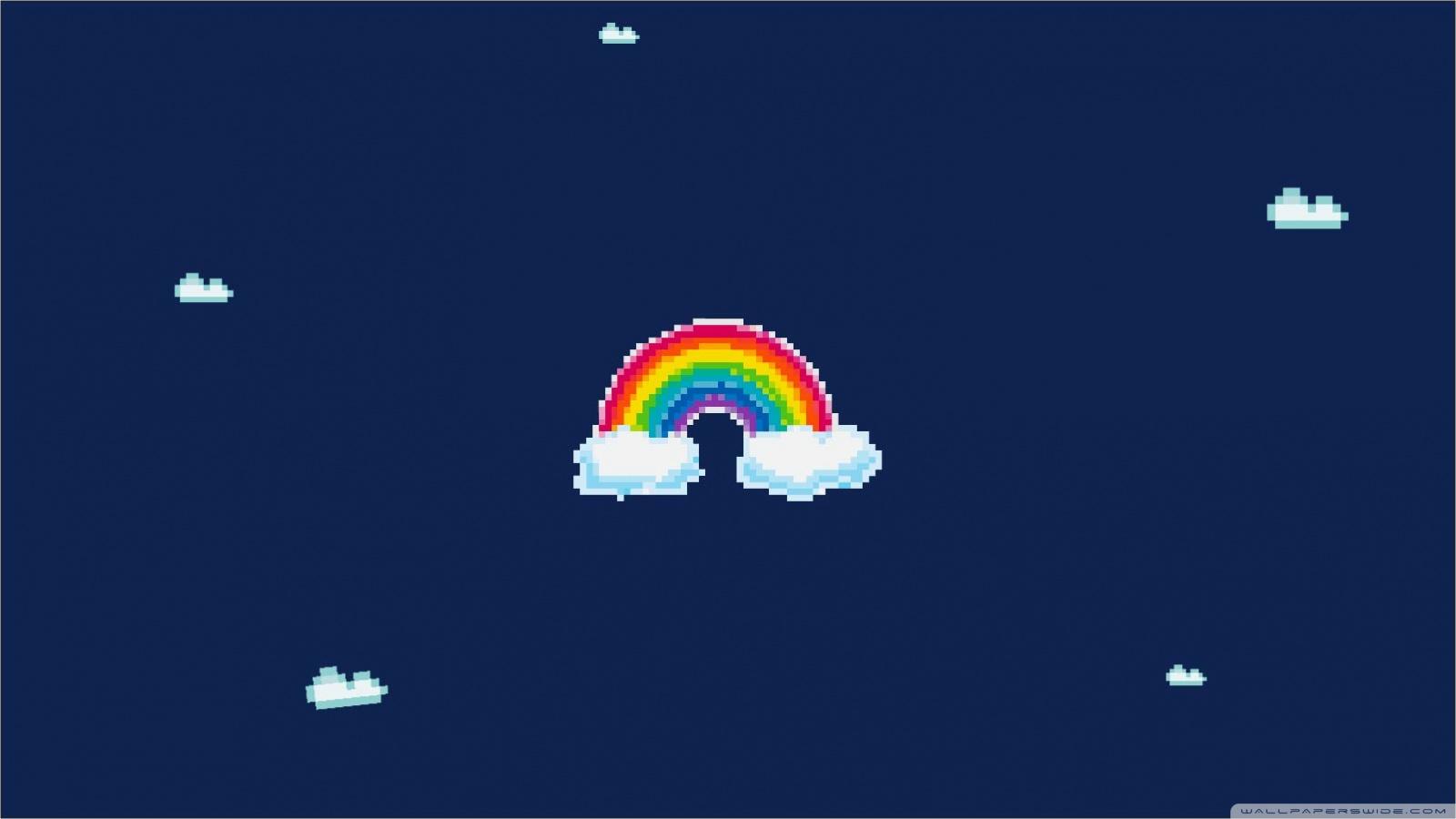 Free Pixel Rainbow phone wallpaper by mysticmi