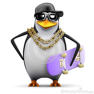 Free rapper-penguin.jpg phone wallpaper by redbone48