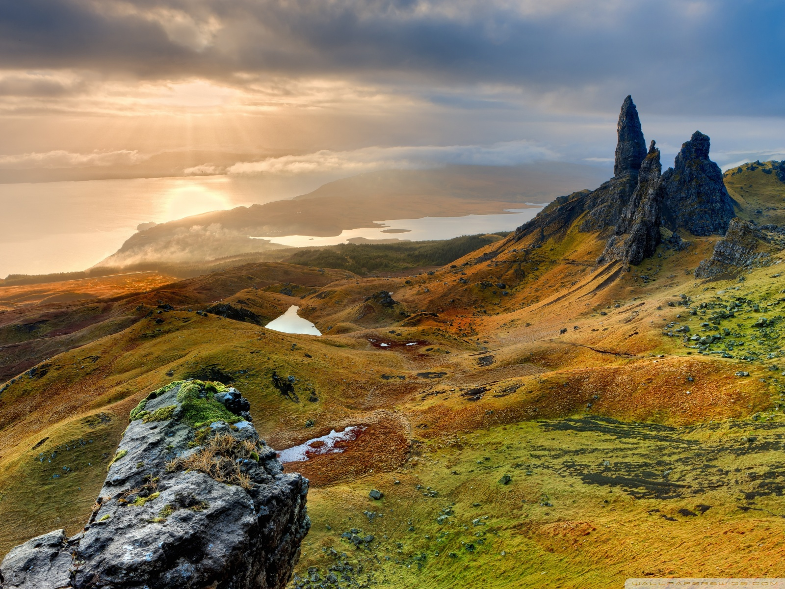 Free The Storr Hill Panorama, Scotland phone wallpaper by darkness56