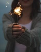 Holding Sparkler