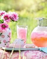 Ice Cold Pink Lemonade