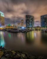 Downtown San Diego Marina at Night