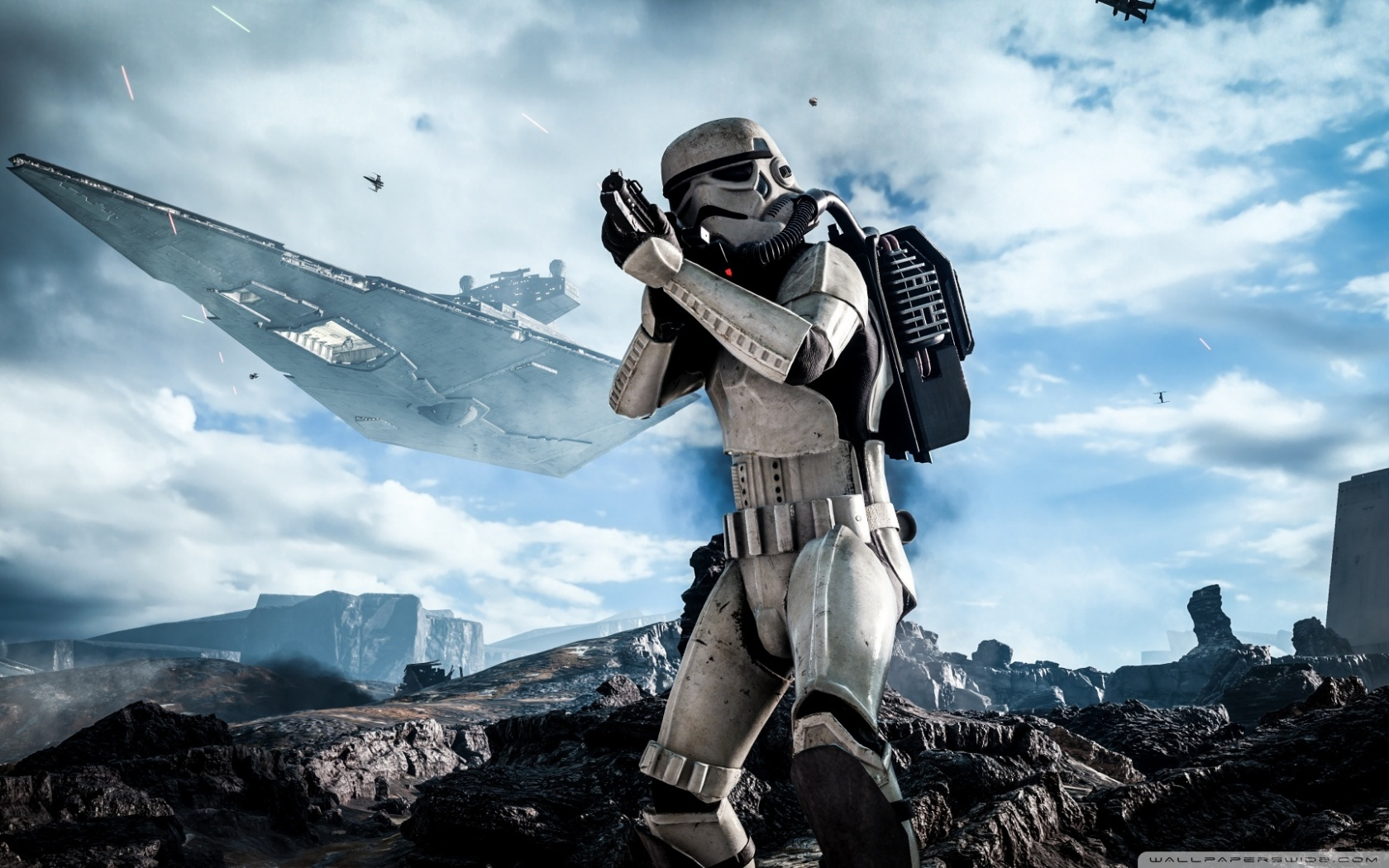Free Star Wars Battlefront Stormtrooper phone wallpaper by suth3rnang3l