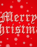 Merry Christmas 2015 Red Background