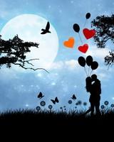 Valentine's Day Love Under The Moonlight
