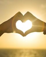 Heart Hands Sunset