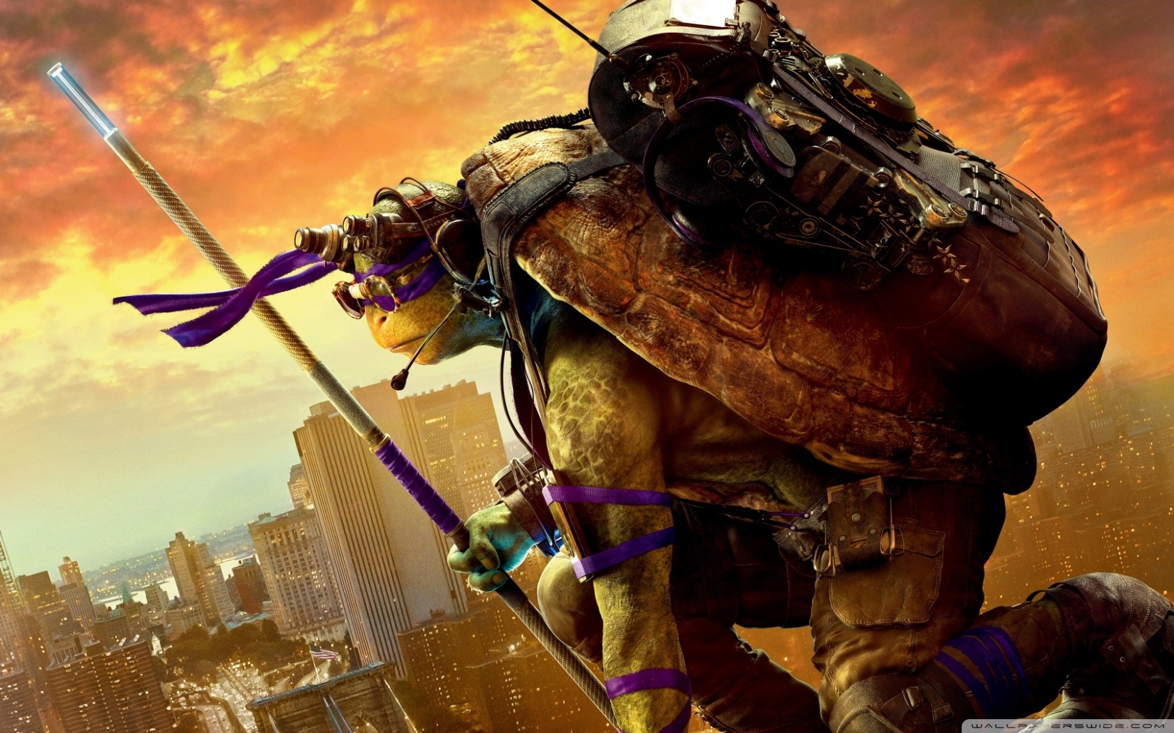 Free Donatello phone wallpaper by rubydee