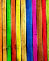 Rainbow Wood Background