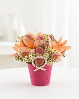Asiatic Lilies Bouquet Vase