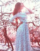 The Beautiful Girl In A Long Dress