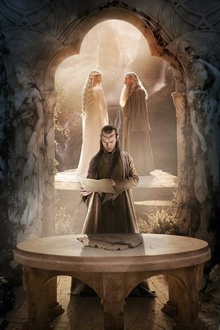 Free The Hobbit: An Unexpected Journey- Elven Wisdom phone wallpaper by mycinematonesdepo