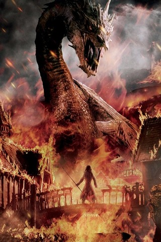 Free The Hobbit : Battle of the Five Armies - Smaug the Terrible phone wallpaper by epictones