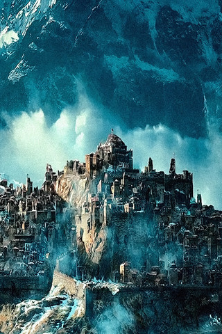 Free The Hobbit Desolation of Smaug - City of Dale Ruins, The phone wallpaper by epictones