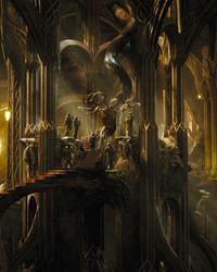 The Hobbit Desolation of Smaug - Thranduil's Woodland Realm wallpaper 1