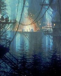 STAR WARS: RETURN of the JEDI - Endor - Ewok Village, Night