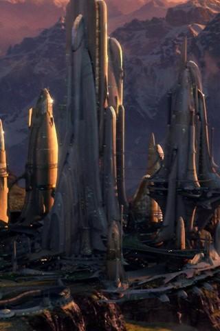 Free STAR WARS: Revenge of the Sith - Alderaan City phone wallpaper by epictones