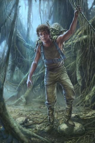 Free STAR WARS: The Training of Luke Skywalker on Degobah phone wallpaper by epictones
