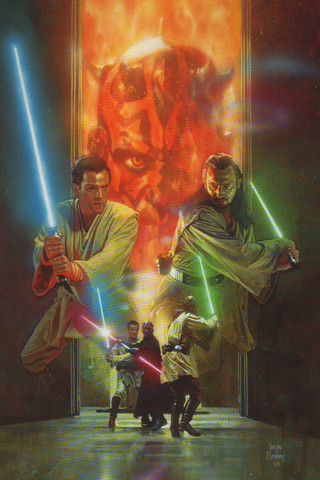 Free STAR WARS: Hugh Fleming - The Phantom Menace - Duel of the Fates phone wallpaper by epictones