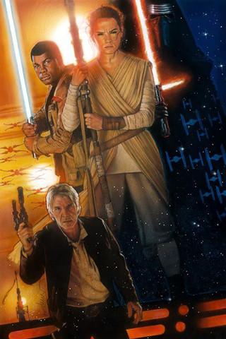 Free STAR WARS: Drew Struzan - The Force Awakens, Poster phone wallpaper by epictones
