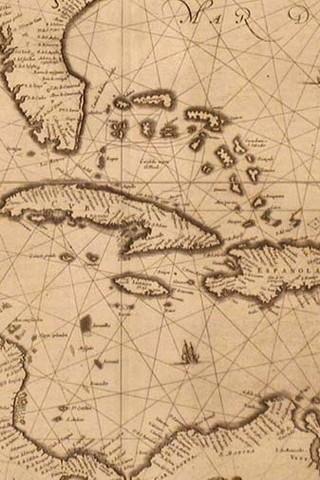 Free Caribbean Islands Map - Florida, Bahamas, Nassau, Jamaica phone wallpaper by epictones