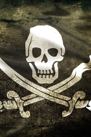 Free Jolly Roger - Black - iphone phone wallpaper by epictones
