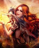 Dragon Fire Fantasy Girl