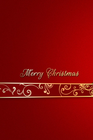 Free Merry Christmas - Red & Gold phone wallpaper by epictones
