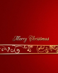 Merry Christmas - Red & Gold wallpaper 1