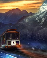 Train Journey Mountains